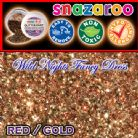 SNAZAROO FACE PAINT GLITTER DUST RED GOLD 12ML TUB